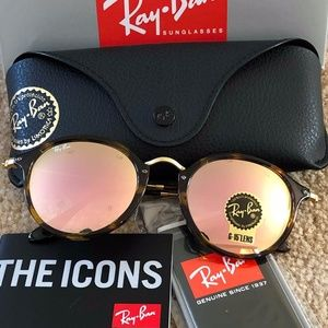 New Authentic Ray-Ban RB2447 ROUND SUNGLASSES